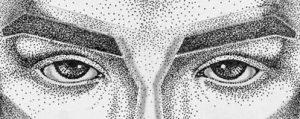 detail of woman's eyes