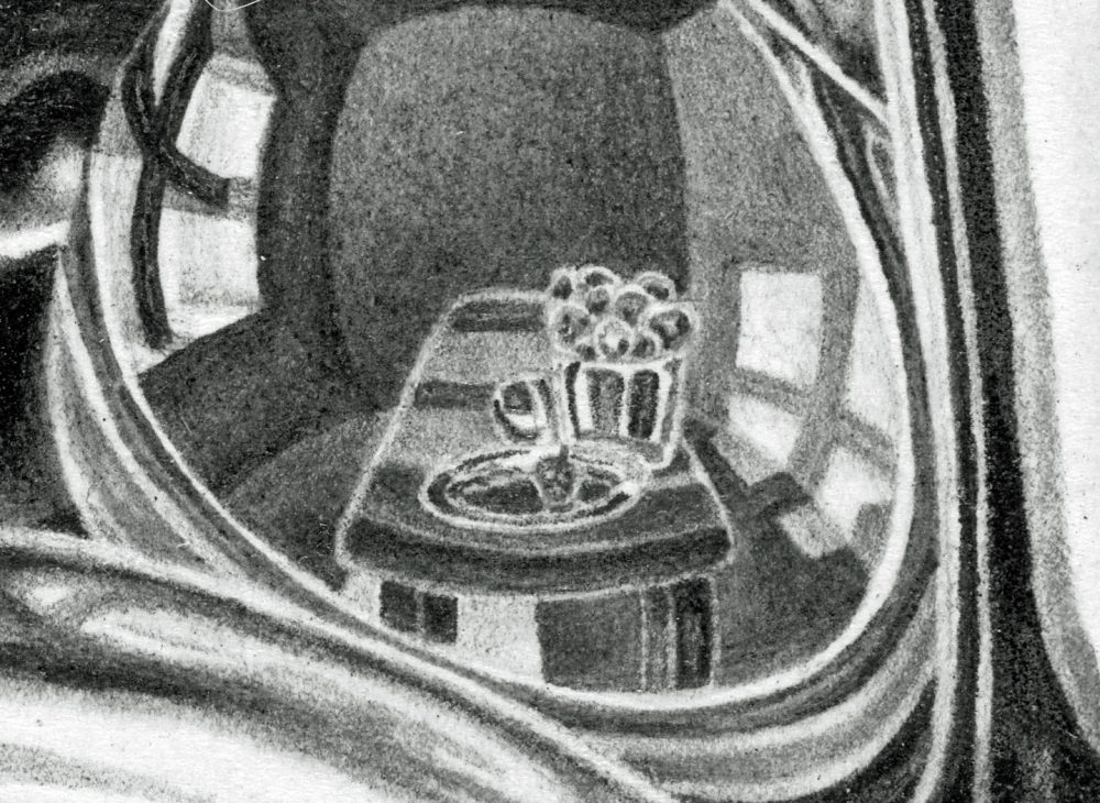 INTERIORS, detail of table