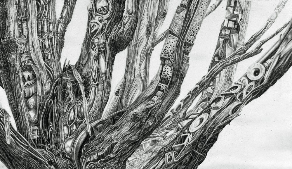 TREE, detail of symbols in branches